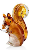 Glass Squirrel Figurine