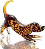 Art Glass Wiener Dog Dachshund Statue