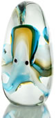 Art Glass Blue and Green Octopus Statue/Paperweight