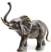 Bellowing Elephant Statue