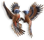 Beautiful Flight Minivet Bird Wall Plaque