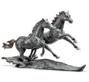 Range Runners Horse Pair Sculpture