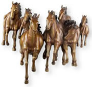 Galloping Horses Wall Plaque