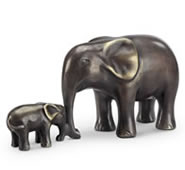 Affectionate Moment Statue- Elephant/Calf