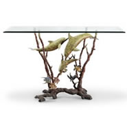 Dolphin Trio Console Table