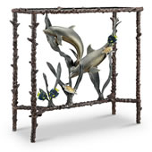 Dolphin Duo Lobby/Console Table