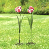 Tulip Flower Garden Stakes, Set of 2