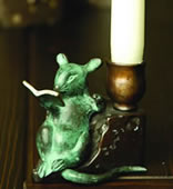 Reading Mouse Candleholder