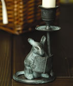 Mouse & Book Candleholder