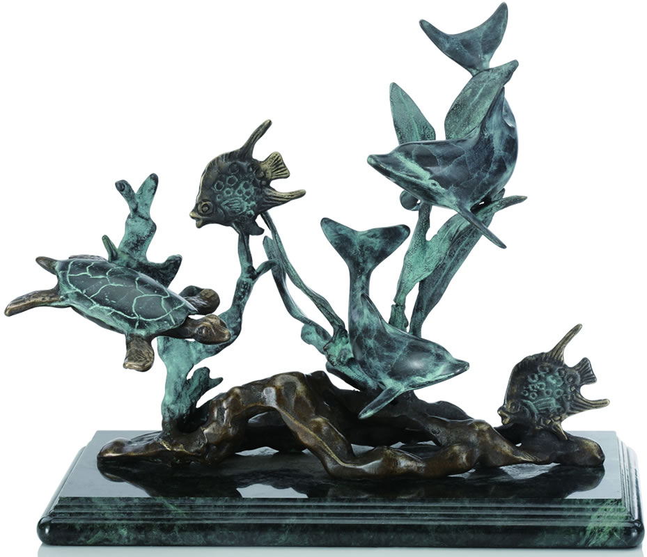 dolphin seaworld small dolphin sculptures statues 30288. Black Bedroom Furniture Sets. Home Design Ideas