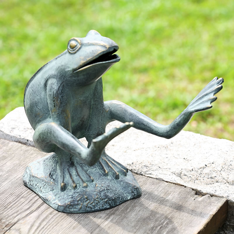 Leaping Frog Garden Statue/Sculpture By SPI Home/San
