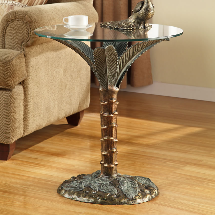 Palm Tree Sculpture End Table Spi San Pacific