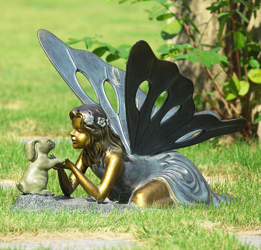 First Friend Fairy Bunny Rabbit Garden Sculpture Spi San