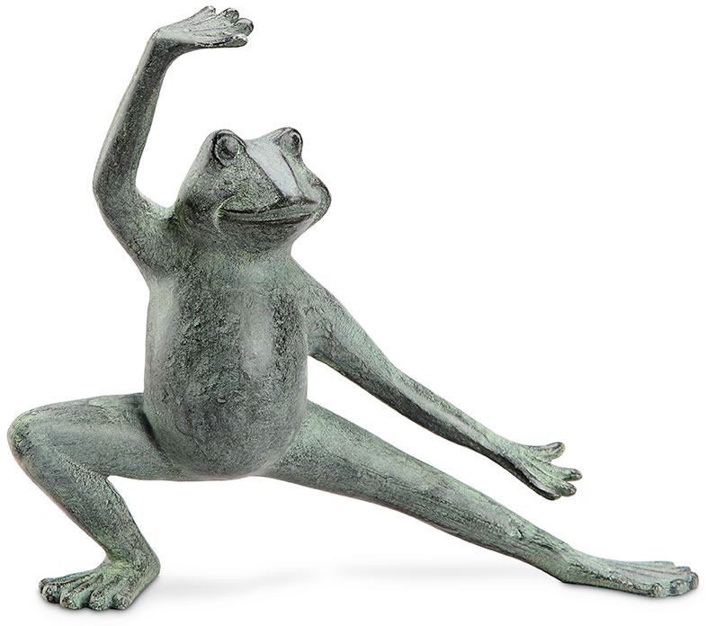 Stretching Tai Chi Frog Garden Statue Spi San Pacific