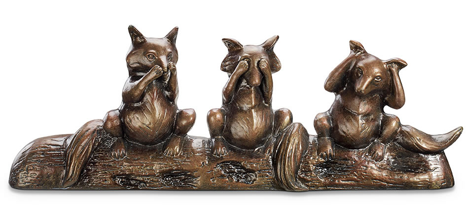 Wise Foxes Garden Statue/Sculpture By SPI Home/San Pacific