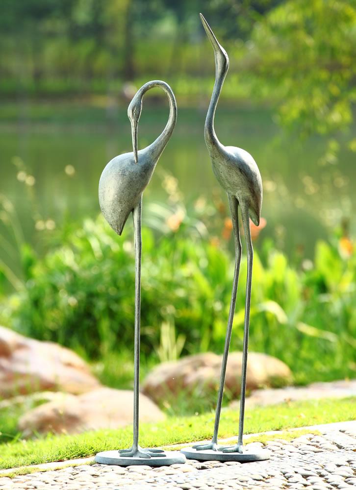 Contemplative Garden Crane Statue Pair Spi San Pacific International All Products 34280