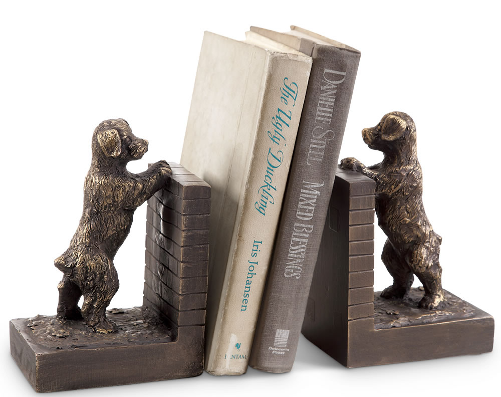 Perky Peeking Puppy Bookends, SPI-San-Pacific
