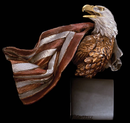 Symbols of Honor- Eagle Statue by Kitty Cantrell