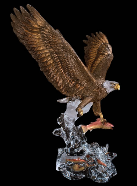 Clear Waters- Eagle Statue by Kitty Cantrell