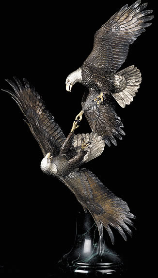 Courting Danger- Eagle Sculpture by Christopher Pardell