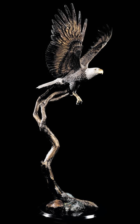 Free Spirit- Eagle Sculpture by Kitty Cantrell