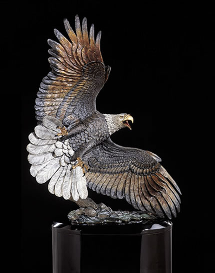 Windwalker Eagle Sculpture by Kitty Cantrell