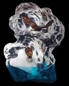 Glacial Voyage Eagle Sculpture by Kitty Cantrell
