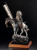 On Wings of Eagles- Sioux Warrior Sculpture