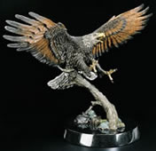 Creator's Messenger- Eagle Sculpture by Kitty Cantrell