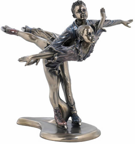 Figure Skating Couple Sculpture