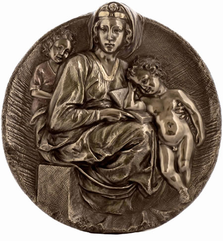 The Pitti Madonna Wall Plaque