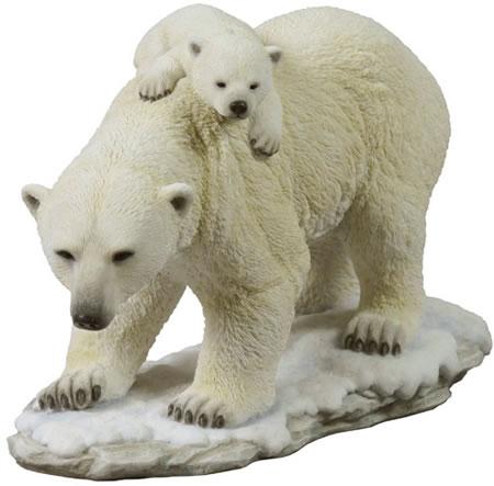 Polar Bear And Cub Statue Stu Home Aawu75390va