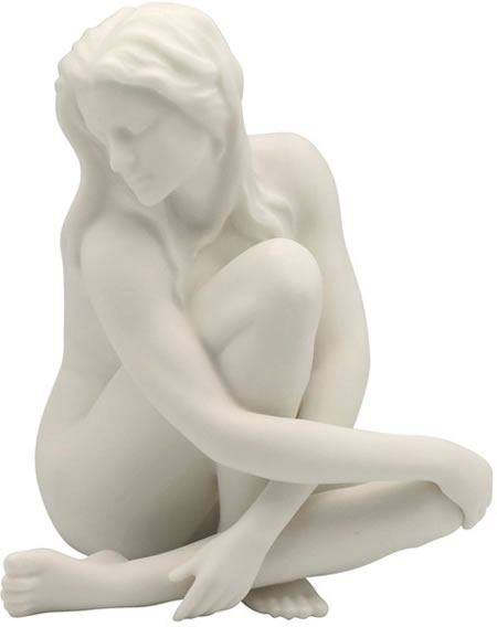 Sultry II- Female Nude Sculpture, Matte Finish