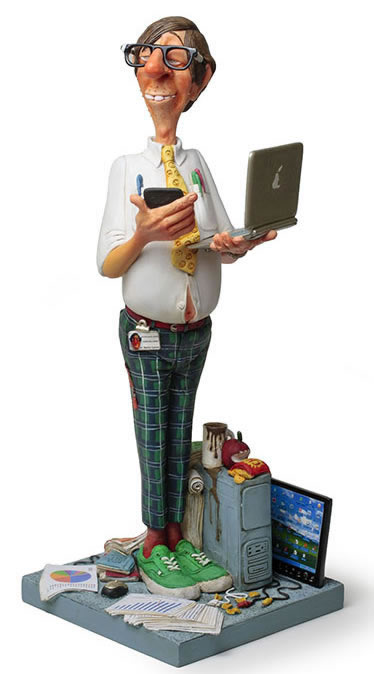 The Computer Expert Statue by Guillermo Forchino
