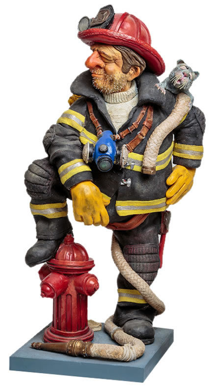 The Firefighter Statue by Guillermo Forchino