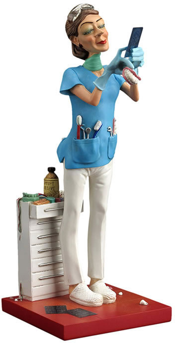 Lady Dentist Comic Statue
