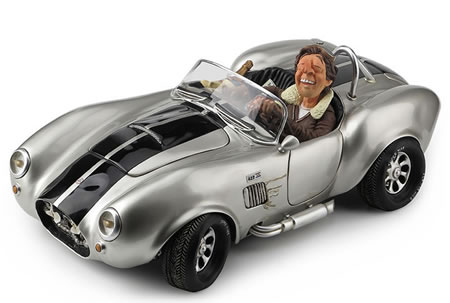 Shelby Cobra Statue, Silver/Large