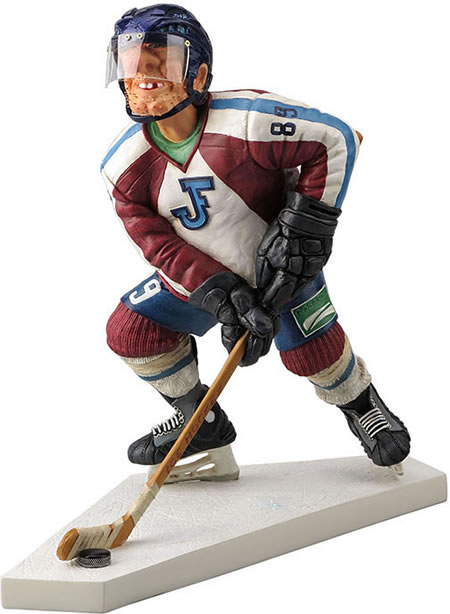 Ice Hockey Player Comic Statue