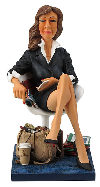 The Businesswoman Statue by Guillermo Forchino