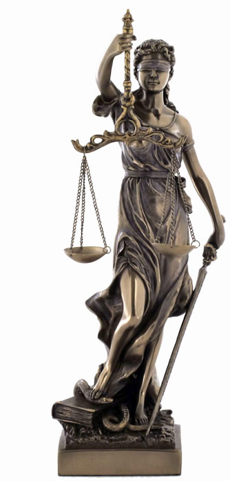 Lady Justice Statue- 13 Inch