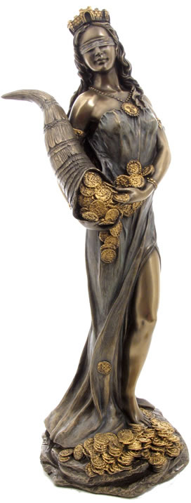 Lady Fortuna Statue, Goddess of Fortune and Luck