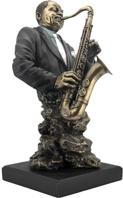 Classic jazz band saxophone sculpture stu home for Classic house track with saxophone