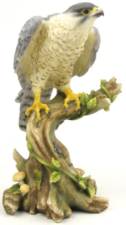 Peregrine Falcon Painted Bird Statue Stu Home