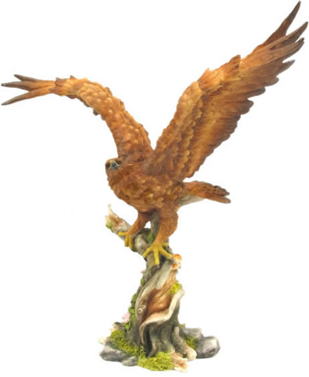 Golden Eagle Painted Bird Statue Stu Home Aawu71876aa