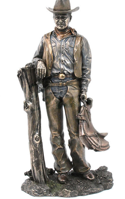 Cowboy With Saddle Sculpture Stu Home Aawu73585a4