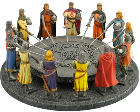 King arthur and the knights of the round table sculpture for 10 knights of the round table
