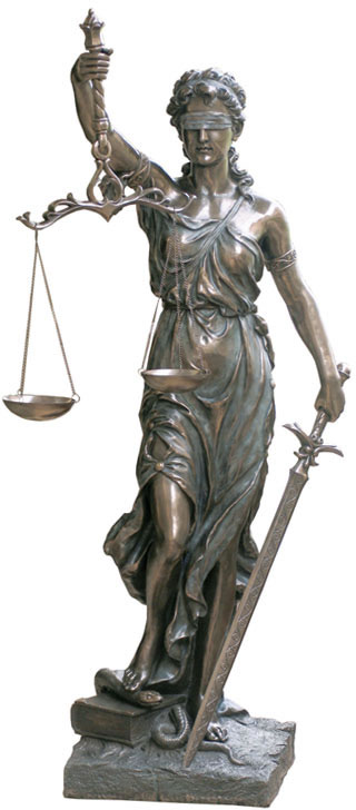 Lady Justice Statue, Extra Large