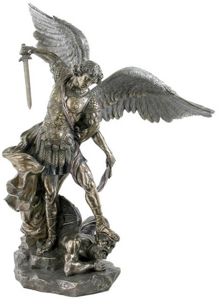 Saint Michael Sculpture- 28.75 Inch