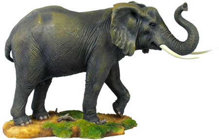 Elephant With Raised Trunk Statue