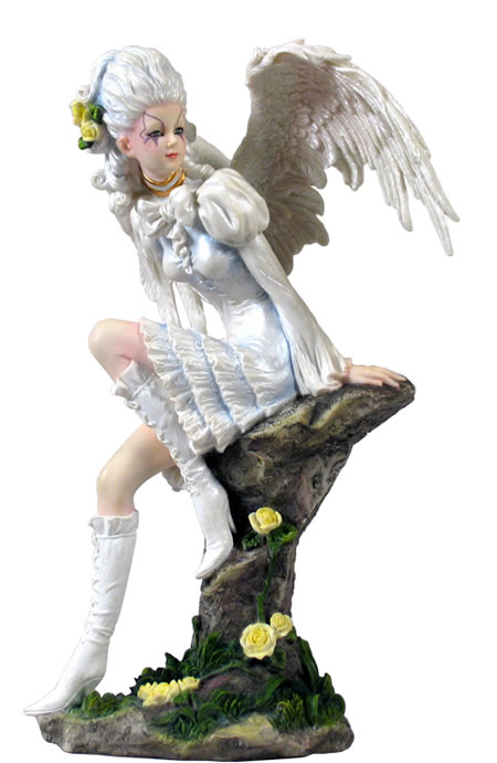 White Gothic Angel Statue